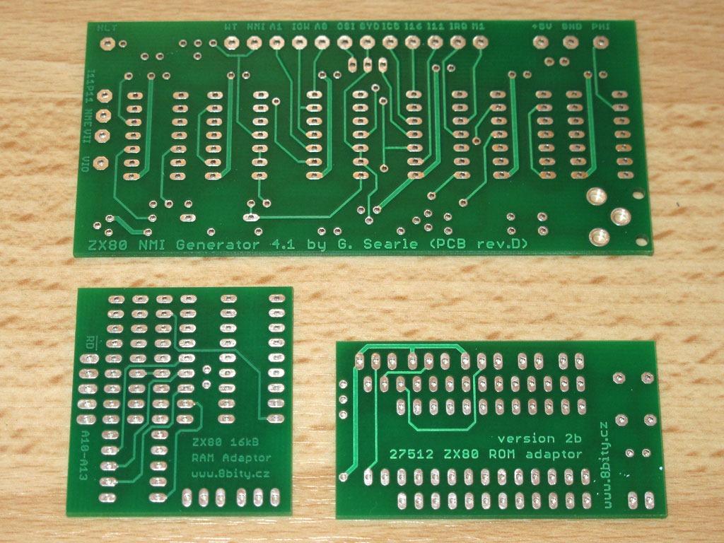 Sinclair ZX80 NMI generátor, RAM a EPROM adaptéry v provozu