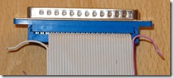 Sharp_MZ-1E05_floppy_cable_FDC_connector