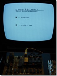 15 Main menu - only one 2114 chip present on board