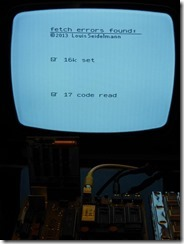 8 Wrong read opcode message