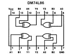 DM74L86_vnitrni_zpojeni