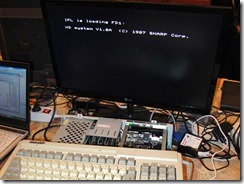 Unicard_in_MZ-2500_emulating_MZ-1E30_ROM